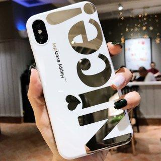 iPhoneケース NICE おしゃれ iPhoneSE iPhone11 iPhoneXR iPhone8iPhoneXS Max スマホ 携帯 ケース カバー シンプル ロゴ