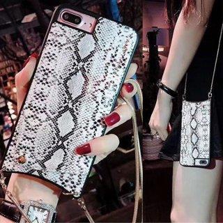 iPhoneケース パイソン柄 iPhone11 iPhoneSE2 iPhone8 iPhoneXR iPhoneXS Max スマホ 携帯 ケース カバー チェーン ポケット付き