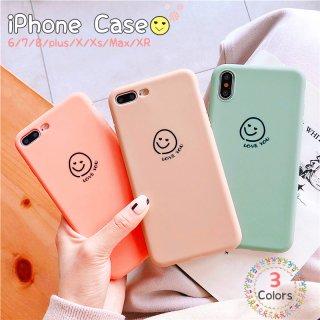 iPhoneケース iPhoneSE iPhone11 iPhone8 iPhoneXR iPhoneXS Max スマホ 携帯 ケース カバー シンプル ニコちゃん スマイル