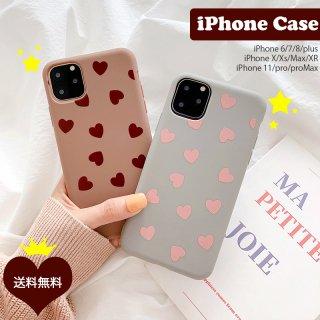 iPhoneケース ハート iPhoneSE iPhone11 iPhone8 iPhoneXR iPhoneXS Max スマホ 携帯 ケース カバー  可愛い