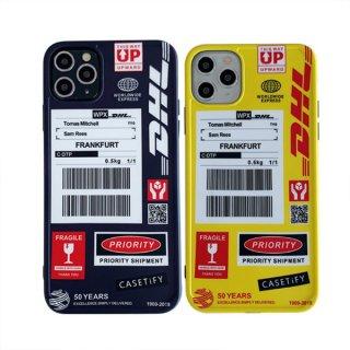 iPhoneケース iPhoneSE iPhone11 iPhone8 iPhoneXR iPhoneXS Max スマホ 携帯 ケース カバー DHL ロゴ おしゃれ
