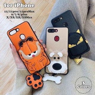 iPhone ケース レザー 革 iPhoneSE iPhone11 iPhone8 iPhoneXR iPhoneXS Max スマホ 携帯 ケース カバー キャラクター 動物