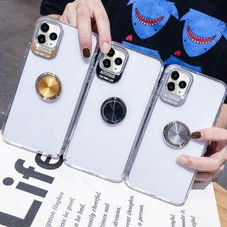 iPhoneケース クリア 薄型 リング付き iPhoneSE iPhone11 iPhone8 iPhoneXR iPhoneXS スマホ 携帯 ケース カバー カメラ保護