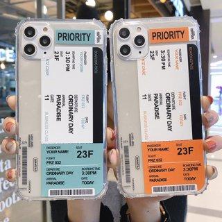 iPhoneケース おしゃれ iPhoneSE iPhone8 iPhone11 iPhoneXR iphoneXS スマホ 携帯 ケース カバー チケット ステッカー シンプル 韓国