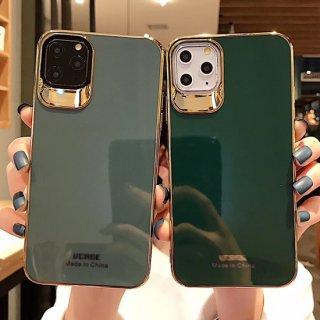 iPhoneケース おしゃれ iPhoneSE iPhone8 iPhone11 iPhoneXR iphoneXS スマホ 携帯 ケース カバー ゴールドフレーム シンプル 韓国