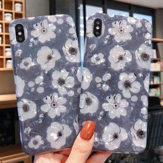 iPhoneケース 花柄 iPhoneSE iPhone8 iPhone11 iPhoneXR iphoneXS  スマホ 携帯 ケース カバー フラワー おしゃれ 韓国