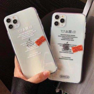iPhoneケース ステッカー クリア iPhoneSE iPhone8 iPhone11 iPhoneXR iphoneXS 洗濯 タグ マーク ステッカー クリア おしゃれ 韓国