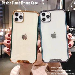 iPhoneケース バンパー  おしゃれ iPhoneSE2 iPhone8 iPhone11 iPhoneXR iphoneXS  スマホ 携帯 ケース カバー クリア フレーム 韓国