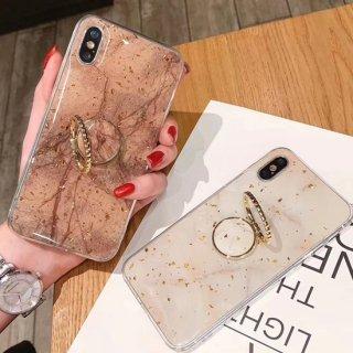 iPhoneSE ケース リング付き 大理石柄 iPhone8 iPhone11 iPhoneXR iphoneXS  スマホ 携帯 ケース カバー  ラメ シンプル 落下防止 おしゃれ 韓国