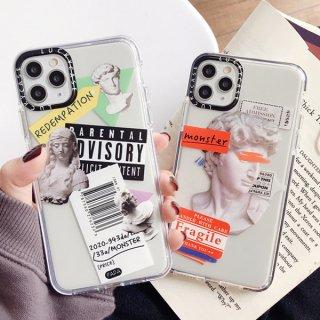 iPhoneSE iPhone8 iPhone11 iPhoneXR iphoneXS  スマホ 携帯 ケース カバー ステッカー 彫刻 コラージュ おしゃれ 韓国