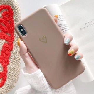 新iPhone12 ケース ハート iPhoneSE iPhone8 iPhone11 iPhoneXR iphoneXS スマホ 携帯 ケース カバー シンプル スモーキー カラー かわいい