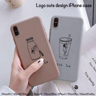 iPhoneSE2 ケース iPhone11 iPhone8 iPhoneXR iPhoneXS スマホ 携帯 ケース カバー 可愛い イラスト ソフトケース ミルクティー ペア 韓国