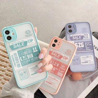 iPhone12 ケース 韓国 流行り iPhoneSE2 iPhone11 8 iPhoneXR iPhoneXS スマホ 携帯 ケース カバー おしゃれ かわいい パステル タグ ステッカー風