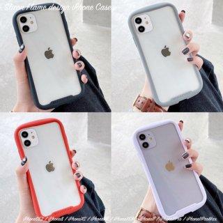 iPhoneSE2 ケース iPhone11 iPhone8 iPhoneXR iPhoneXS スマホ 携帯 ケース カバー クリア ラウンドフォルム  シンプル おしゃれ 韓国