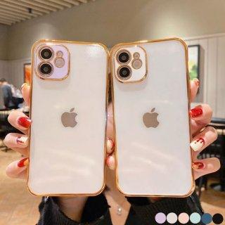 iPhone12 mini Pro Max ケース iPhone11 iPhoneSE2 スマホ 携帯 ケース カバー 韓国 流行り おしゃれ クリア 透明 カメラ保護 レンズ保護