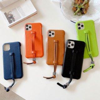 iPhone12 mini Pro Max ケース iPhone11 iPhoneSE2 スマホ 携帯 ケース カバー 韓国 流行り おしゃれ レザー 合革 ループベルト