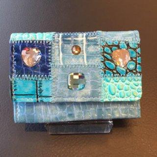 Michelangelo<br>(ミケランジェロ)<br>ミニ財布(手のひらサイズ)キーホルダー付き<br>ブルー