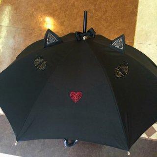 Chantal Thomass<BR>シャンタルトーマス<BR>晴雨兼用傘(日傘)<BR>ブラックキャット