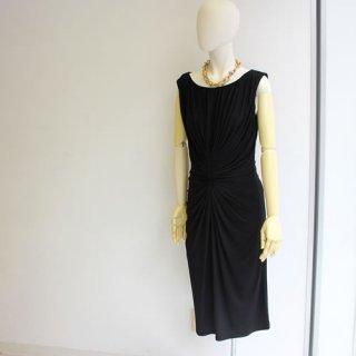 TADASHI タダシ・ショウジ<br>ワンピース<BR>ドレープショートドレス ブラック