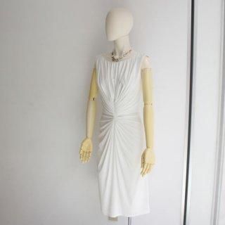 TADASHI タダシ・ショウジ<br>ワンピース<BR>ドレープショートドレス ホワイト