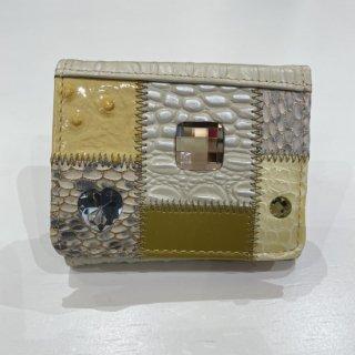 Michelangelo<br>(ミケランジェロ)<br>ミニ財布(手のひらサイズ)<br>ベージュ(ゴールド)