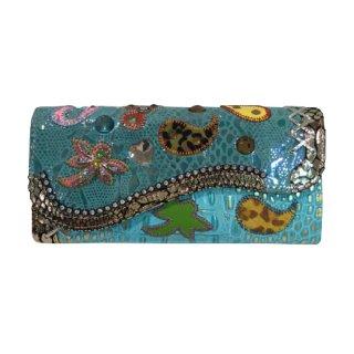 Michelangelo<br>(ミケランジェロ)<br>ブルー系 ペーズリー<br> 長財布