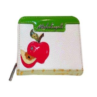 【期間限定SALE】<br>Michelangelo<br>(ミケランジェロ)<br>アップルモチーフ<br>二つ折り財布
