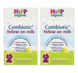 Hipp Combiotic ステップ2【Follow on milk】 粉ミルク 2箱 送料無料
