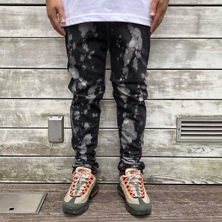 【LEFLAH】low crotch bleach denim(BLK)