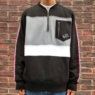 <img class='new_mark_img1' src='//img.shop-pro.jp/img/new/icons2.gif' style='border:none;display:inline;margin:0px;padding:0px;width:auto;' />【LEFLAH】bi-color half zip sweat(BLK)