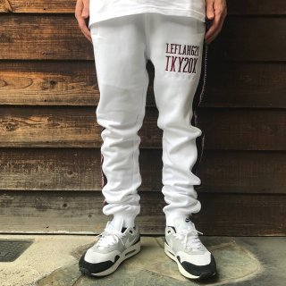 <img class='new_mark_img1' src='//img.shop-pro.jp/img/new/icons2.gif' style='border:none;display:inline;margin:0px;padding:0px;width:auto;' />【LEFLAH】line sweat pants(WHT)