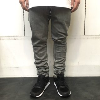 【LEFLAH】shoe lace skinny denim(GRY)