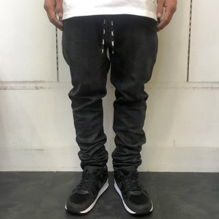 <img class='new_mark_img1' src='//img.shop-pro.jp/img/new/icons1.gif' style='border:none;display:inline;margin:0px;padding:0px;width:auto;' />【LEFLAH】shoe lace skinny denim  (BLK)