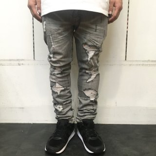 【LEFLAH】damage skinny denim(GRY)