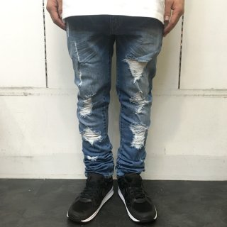 <img class='new_mark_img1' src='//img.shop-pro.jp/img/new/icons1.gif' style='border:none;display:inline;margin:0px;padding:0px;width:auto;' />【LEFLAH】damage skinny denim(BLU)