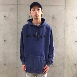 【LEFLAH】Uneven dyeing parka(NVY)