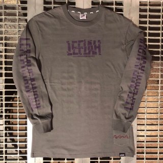 【LEFLAH】crack logo long tee(CHA)