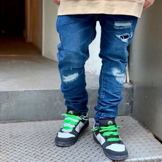 <img class='new_mark_img1' src='//img.shop-pro.jp/img/new/icons2.gif' style='border:none;display:inline;margin:0px;padding:0px;width:auto;' />【LEFLAH】damage repair skinny denim(BLU)