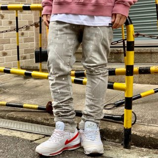 <img class='new_mark_img1' src='//img.shop-pro.jp/img/new/icons2.gif' style='border:none;display:inline;margin:0px;padding:0px;width:auto;' />【LEFLAH】paint bleach skinny denim(BLK)