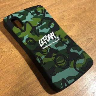 【LEFLAH】brush camo rubber case(iPhoneX/XS用)
