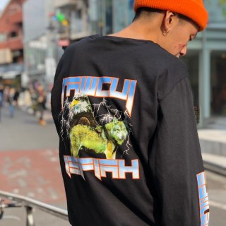 【LEFLAH】natural enemy long tee(BLK)