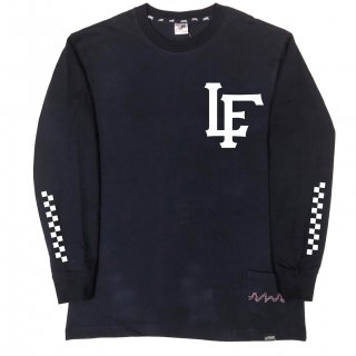 【LEFLAH】LF team logo long tee(NVY)