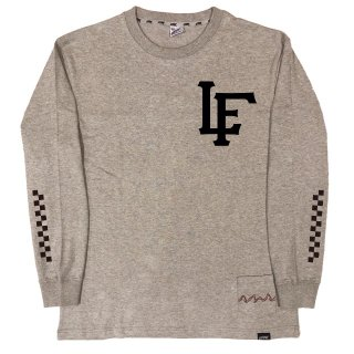 【LEFLAH】LF team logo long tee(GRY)