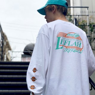 【LEFLAH】BB long tee(WHT/GRN)