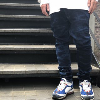 <img class='new_mark_img1' src='//img.shop-pro.jp/img/new/icons1.gif' style='border:none;display:inline;margin:0px;padding:0px;width:auto;' />【LEFLAH】over dye skinny denim pants(BLU)