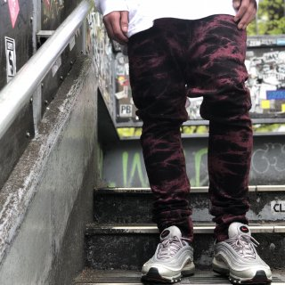 <img class='new_mark_img1' src='//img.shop-pro.jp/img/new/icons1.gif' style='border:none;display:inline;margin:0px;padding:0px;width:auto;' />【LEFLAH】over dye skinny denim pants(RED)