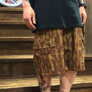 <img class='new_mark_img1' src='//img.shop-pro.jp/img/new/icons1.gif' style='border:none;display:inline;margin:0px;padding:0px;width:auto;' />【LEFLAH】tiger pattern denim cargo short pants(BRW)