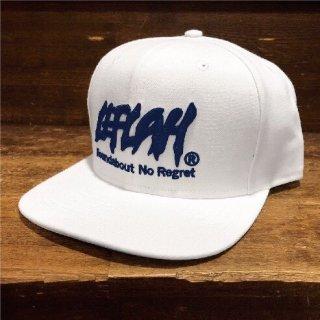 【LEFLAH】LEFLAH logo snap back cap(WHT/NVY)
