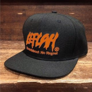 【LEFLAH】LEFLAH logo snap back cap(BLK/ORG)