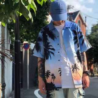 <img class='new_mark_img1' src='https://img.shop-pro.jp/img/new/icons1.gif' style='border:none;display:inline;margin:0px;padding:0px;width:auto;' />【LEFLAH】Palm tree aloha shirt(BLU)